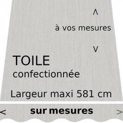Toile pour store unie marbre piqué. Lambrequin vague