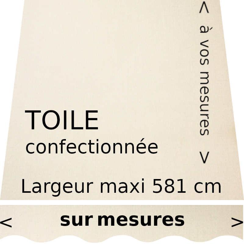 Toile acrylique couleur naturel et lambrequin de forme : vague