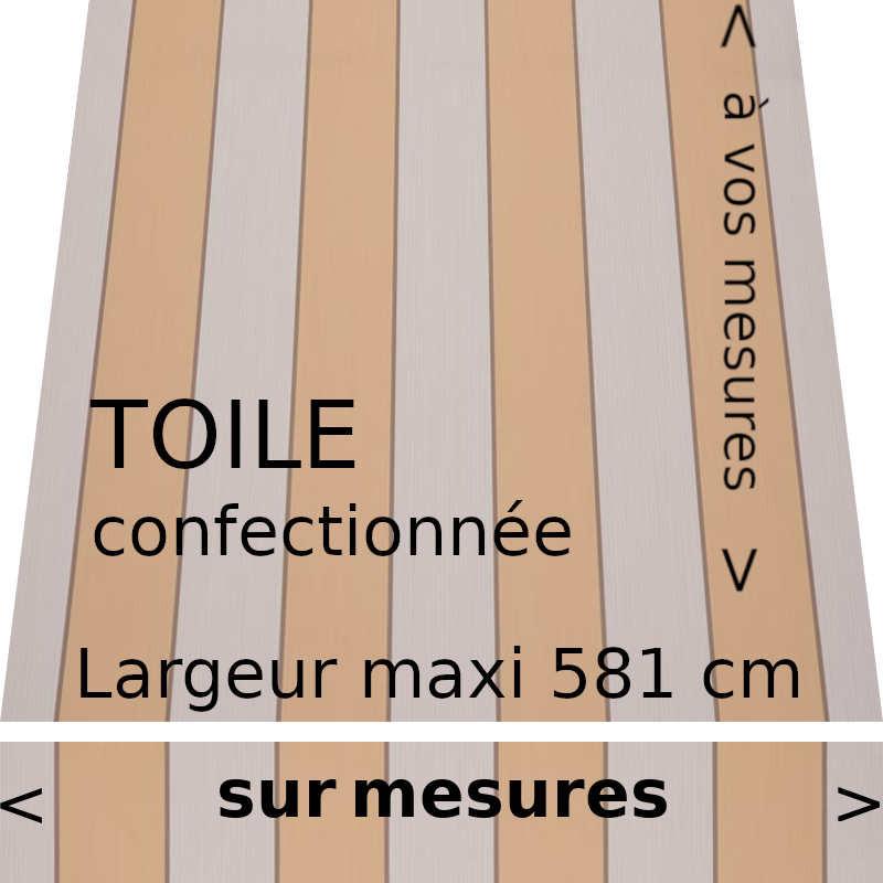 Toile collection Sienne jaune et son lambrequin droit fabriqués sur mesure
