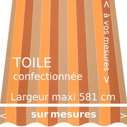 Toile collection Woodstock et son lambrequin forme : vague
