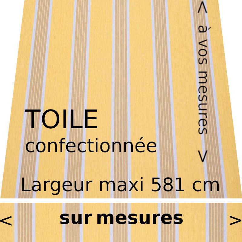 Toile collection Manosque jaune et son lambrequin droit. Confectionnée à vos dimensions.