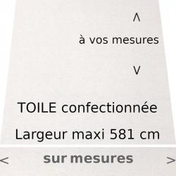 Toile acrylique pour store de couleur Gris Graphite avec lambrequin de forme droite