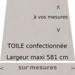 Toile couleur Gris Pierre lambrequin droit, confectionné à vos mesures