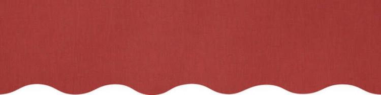 Stores toile couleur rouge brique