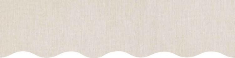 store,toile et lambrequin beige chiné personnalisés ( sur mesures)