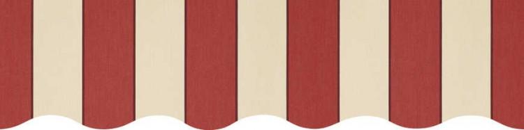 Stores toile à rayures fantaisies Sienne beige et bordeaux