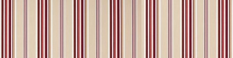 Stores toile à rayures fantaisies écru rouge bordeaux blanc Windsor