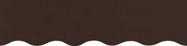 Store à vos mesures avec toile marron brownie