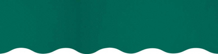 Stores avec toiles Vert ( largeur en façade 450 cm )