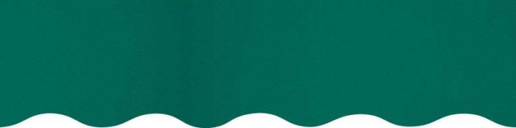 Stores avec toiles Vert ( largeur en façade 550 cm )
