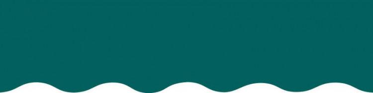 Toiles vert émeraude pour lambrequin de store à vos mesures