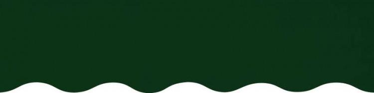 Stores avec toiles Vert Olive ( largeur en façade 350 cm )
