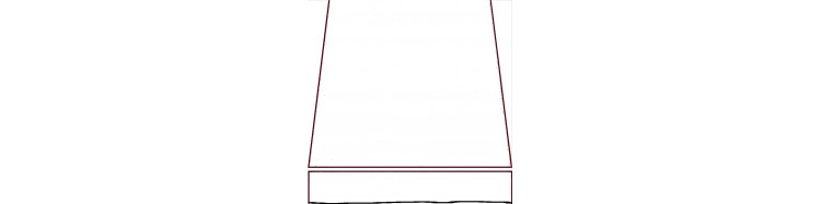 stores bannes d'une largeur en façade de 250 cm et d'une avancée de 210 cm