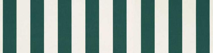Stores avec toiles Vert et Blanc ( largeur en façade 500 cm )