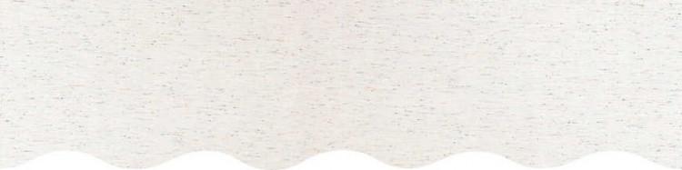 Store personnalisé à vos mesures avec toile unie écru chiné multicouleurs