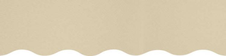 Toiles jaune ivoire pour lambrequin de store à vos mesures