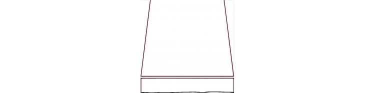 480 x 185 : largeur en façade 480 cm et avancée de 185 cm