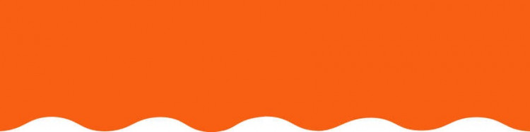 Toiles orange pour lambrequin de store à vos mesures