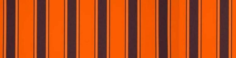 Stores avec toiles Chantilly Orange ( largeur en façade 450 cm )
