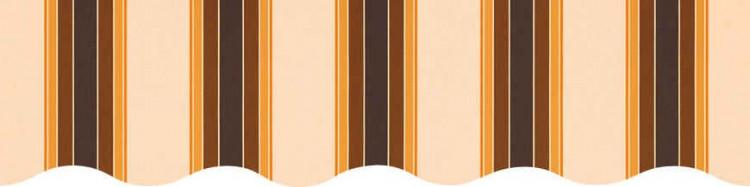 Stores avec toiles Ascot Mandarine ( largeur en façade 550 cm )