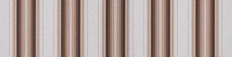 Store toile à rayures fantaisies écru chiné, beige, marron, marron foncé et bordeaux