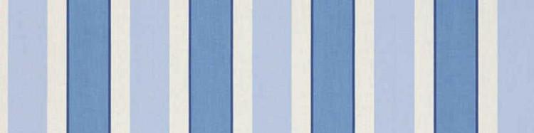 Stores toile à rayures fantaisies bleu clair et bleu foncé Hardelot