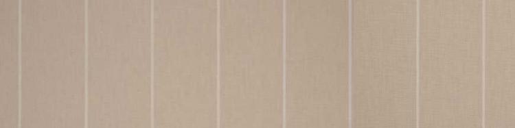 Stores toile à rayures fantaisies grège, marron clair, marron foncé et bleu clair