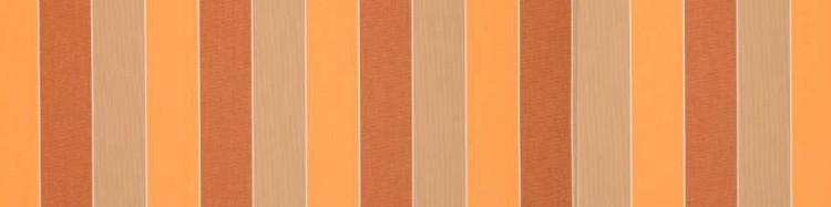 Stores toile à rayures fantaisies orange vif, orange foncé et taupe