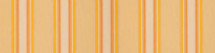 Stores toile à rayures fantaisies jaune paille, orange et jaune blé