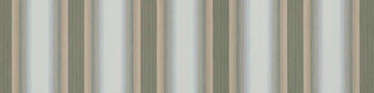 Stores toile à rayures fantaisies écru, beige dune et vert réséda