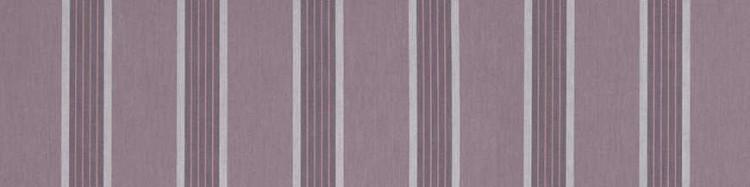 Stores toile à rayures fantaisies violet et parme Améthyste