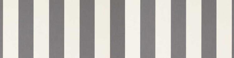 Toile bicolore à rayures très classiques Gris et Blanc pour les stores