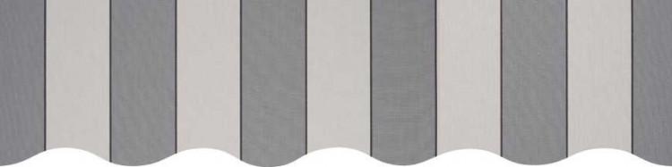 Stores toile à rayures fantaisies Sienne gris et grège