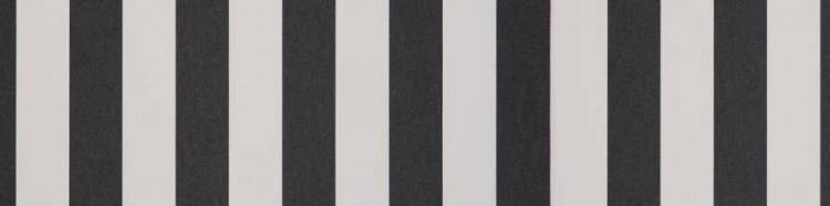 Toile bicolore à rayures classiques Noir et Ecru pour store extérieur