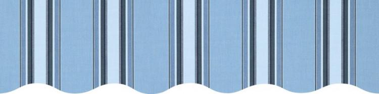 Stores toile à rayures fantaisies bleu clair et bleu foncé Chicago