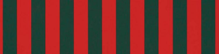 Stores toile à rayures classiques rouge et vert