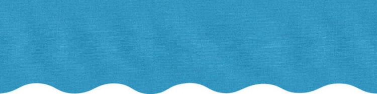 Stores toile unie couleur bleu AZUR