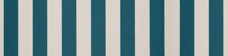 Toile de protection solaire bicolore couleurs bleu-vert canard & blanc