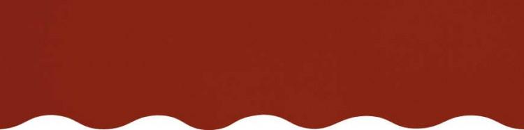 store,toile et lambrequin marron châtaigne personnalisés ( sur mesures)