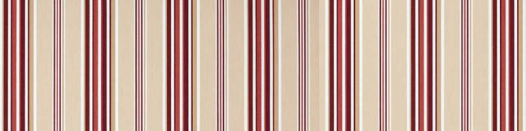 Stores avec toiles Windsor Rouge ( largeurs en façade  300 à 600 cm )