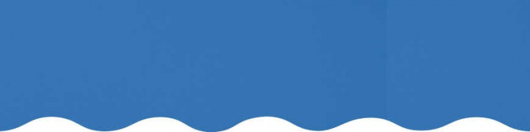 Stores avec toiles Bleu Chardon ( largeur en façade 500 cm )