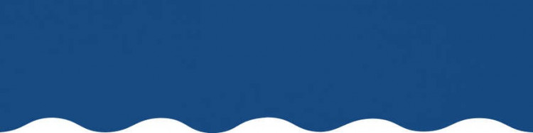 Toiles bleu méditerranée pour lambrequin de store à vos mesures