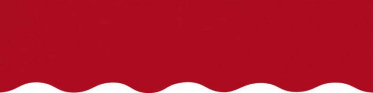 Stores avec toiles Rouge ( largeur en façade 550 cm )