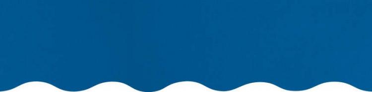 Stores avec toiles Bleu ( largeur en façade 350 cm )