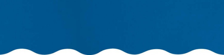 Stores avec toiles Bleu ( largeur en façade 450 cm )