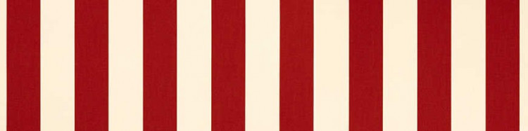 Stores avec toiles Rouge et Ecru ( largeur en façade 500 cm )