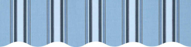 Stores avec toiles Chicago Bleu ( largeur en façade 500 cm )