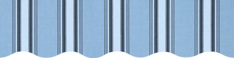 Stores avec toiles Chicago Bleu ( largeur en façade 550 cm )