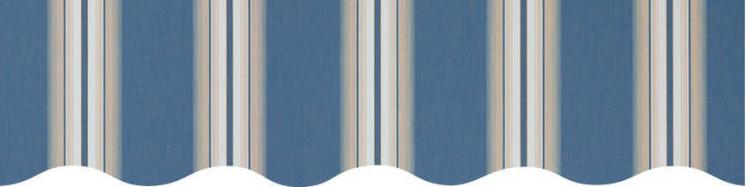 Stores avec toiles Venezia Bleu ( largeur en façade 500 cm )
