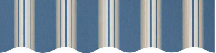 Stores avec toiles Venezia Bleu ( largeur en façade 600 cm )